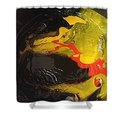 Fire In Soot Shower Curtain