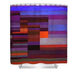 Fire In The Evening Shower Curtain by Paul Klee