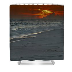 Fire In The Horizon Shower Curtain by Renee Hardison