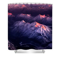 Fire In Ice Shower Curtain