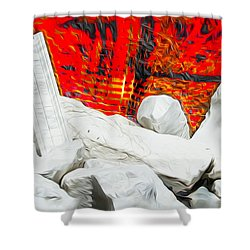 Fire In The Minds Of Men Shower Curtain