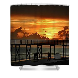 Fire In The Sky Shower Curtain by Bill Cannon