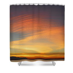 Fire In The Sky Shower Curtain by Elvira Butler