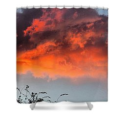 #fire In The #sky Over #texas. Hope Shower Curtain