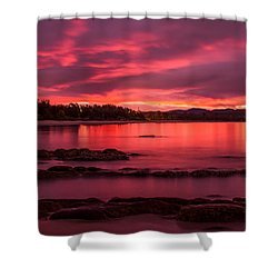 Fire In The Sky Shower Curtain by Racheal  Christian