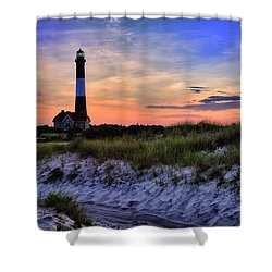 Fire Island Lighthouse Shower Curtain by Rick Berk
