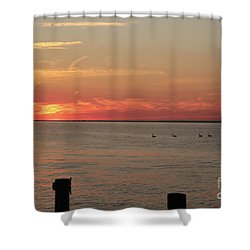 Fire Island Sunset Shower Curtain