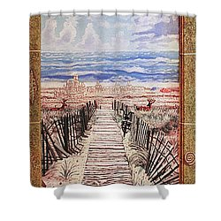 Fire Island Walkway To The Beach Shower Curtain