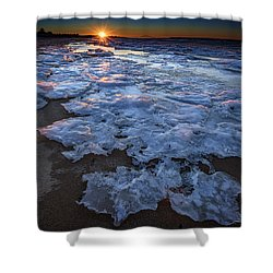 Fire Island Winter Shower Curtain by Rick Berk