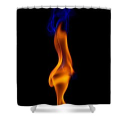 Shower Curtain featuring the photograph Fire Lady by Gert Lavsen
