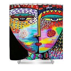Fire Lava Goddess Shower Curtain by Sandra Silberzweig