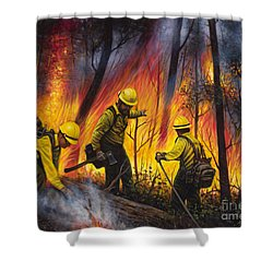 Fire Line 2 Shower Curtain