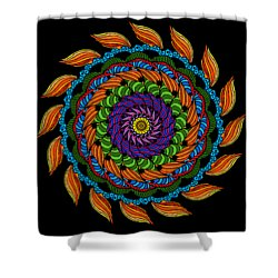 Fire Mandala Shower Curtain