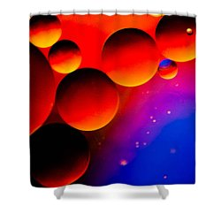 Fire Moons Shower Curtain by Bruce Pritchett