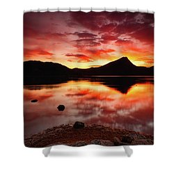 Shower Curtain featuring the photograph Fire Of Fall by John De Bord
