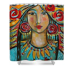 Fire Of The Spirit Shower Curtain by Shiloh Sophia McCloud
