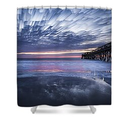 Fire On The Water Shower Curtain