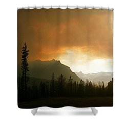 Fire Over St Mary Shower Curtain