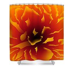 Fire Peony Shower Curtain