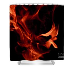 Fire Petals Shower Curtain