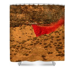 Shower Curtain featuring the photograph Fire Retardant by Robert Bales