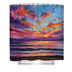 Fire Sky Shower Curtain