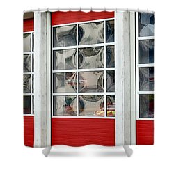 Fire Station Abstract Shower Curtain