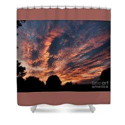 Fire Swept Sky  Shower Curtain by Christy Ricafrente