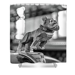 Fire Truck Hood Ornament Shower Curtain
