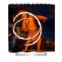 Fire Twirl Shower Curtain