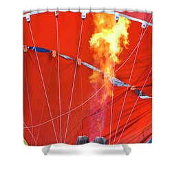 Fire Up Shower Curtain by Brian Roscorla