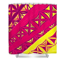 Shower Curtain featuring the drawing Fire Velvet Lace by Kim Sy Ok