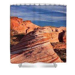 Fire Wave Shower Curtain by Tammy Espino