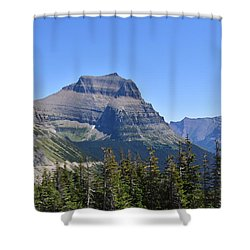 Fire Within Glacier National Park Shower Curtain