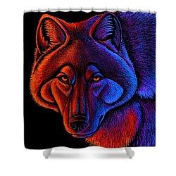 Fire Wolf Shower Curtain