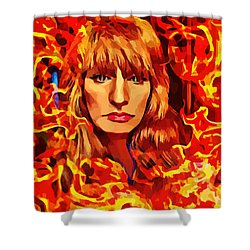 Fire Woman Abstract Fantasy Art Shower Curtain