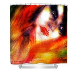 Fire Woman Shower Curtain