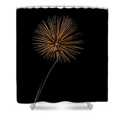 Fire Works Bursts Shower Curtain by Gary Langley
