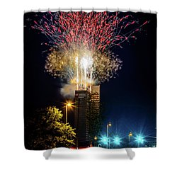 Fire Works In Fort Wayne Shower Curtain