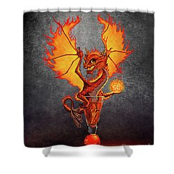 Fireball Dragon Shower Curtain