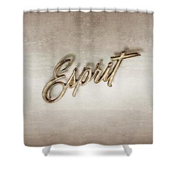 Firebird Esprit Chrome Emblem Shower Curtain