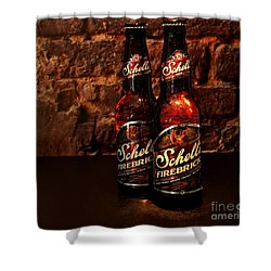 Firebrick Shower Curtain