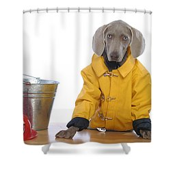 Firedog Shower Curtain