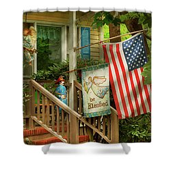 Shower Curtain featuring the photograph Firefighter - Be Blessed My Hero by Mike Savad