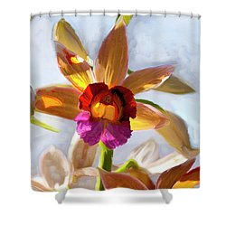 Firefox  Orchid Painting Shower Curtain