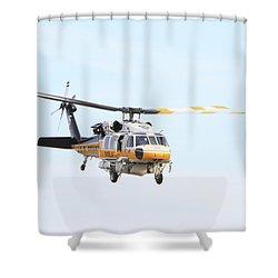 Firehawk In Flight Shower Curtain by Shoal Hollingsworth