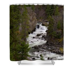 Shower Curtain featuring the photograph Firehole Canyon by Steve Stuller