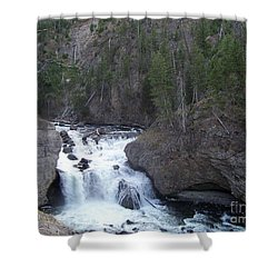 Shower Curtain featuring the photograph Firehole Falls by Charles Robinson
