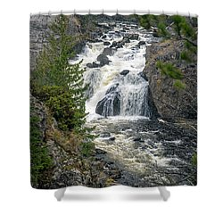 Firehole Falls Shower Curtain by Cindy Murphy - NightVisions