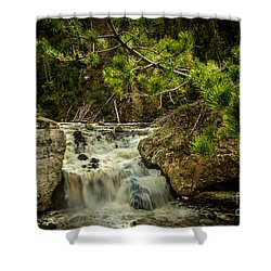 Shower Curtain featuring the photograph Firehole Falls by Robert Bales